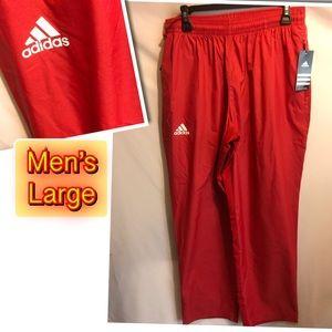 Adidas Men's Red workout pants Large